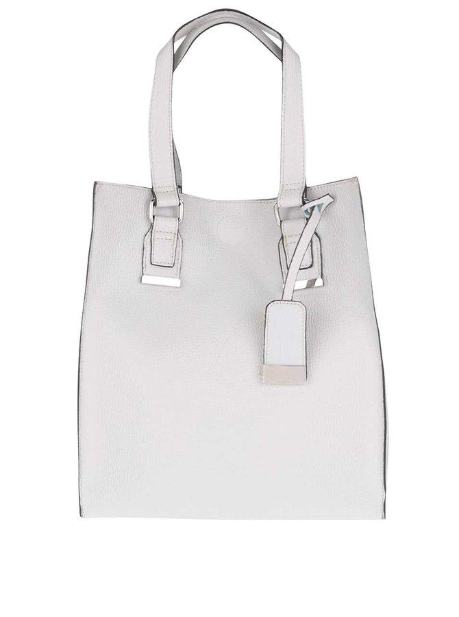 Světle šedý shopper s detaily ve stříbrné barvě Miss Selfridge