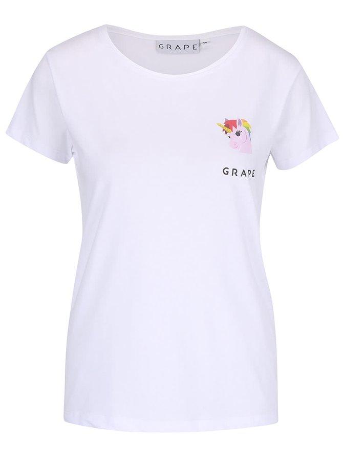 Biele dámske tričko Grape