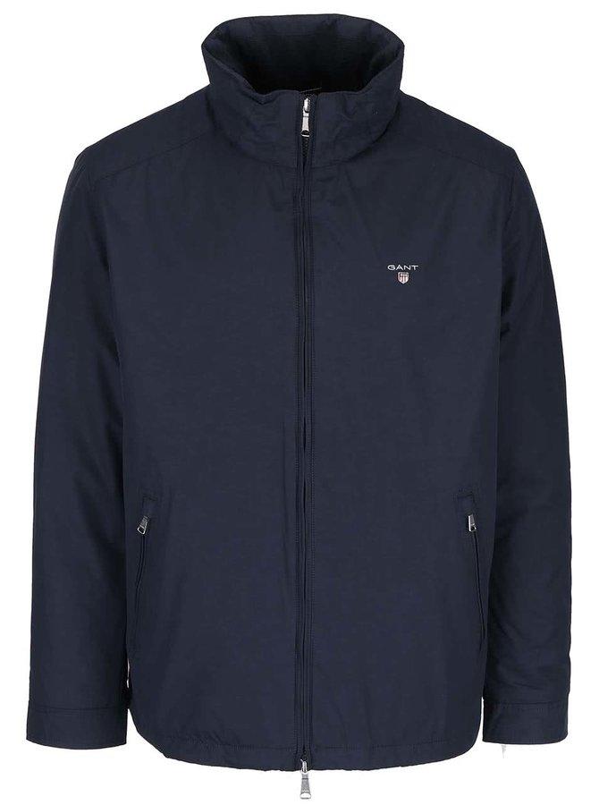 Tmavomodrá pánska bunda na zips GANT