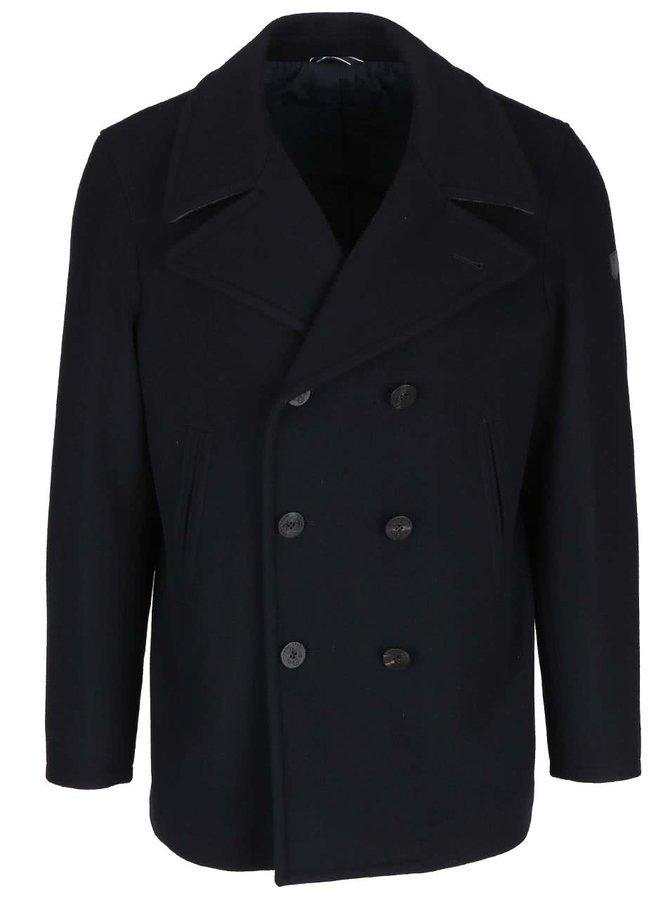 Černý pánský luxusní kabát z vlny GANT