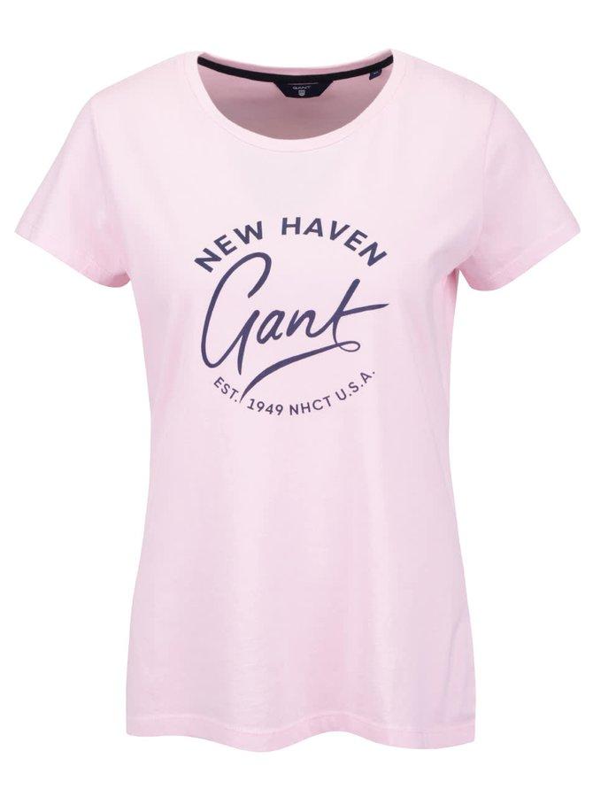 Ružové dámske tričko s potlačou GANT
