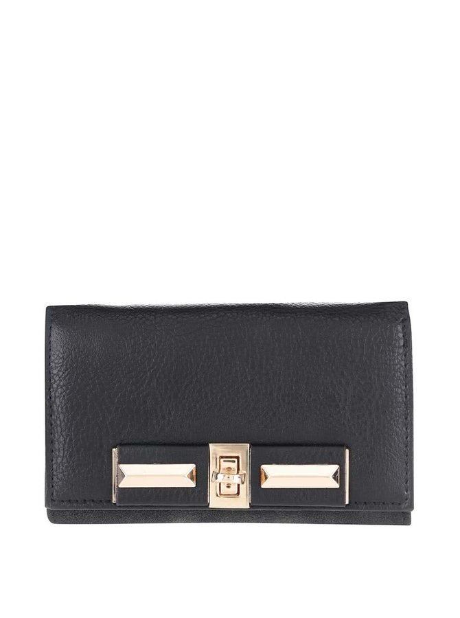 Černá peněženka s detaily ve zlaté barvě Pieces Penriette