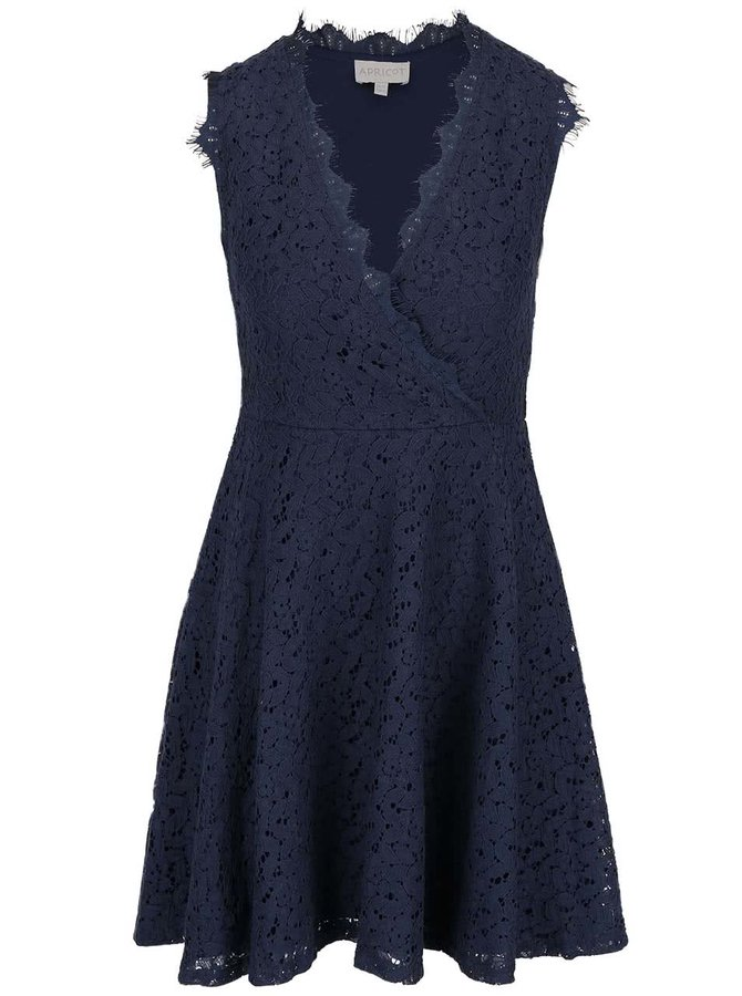 Rochie din dantelă bleumarin Apricot