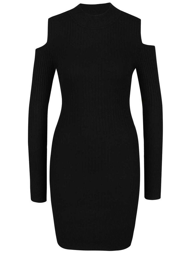 Černé šaty s odhalenými rameny Apricot