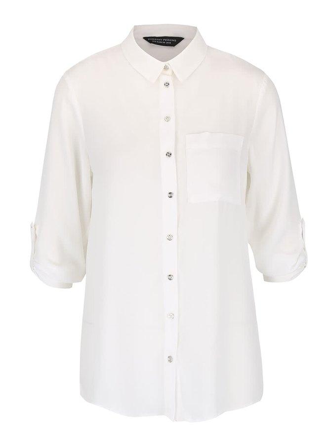 Krémová košile s 3/4 rukávy Dorothy Perkins