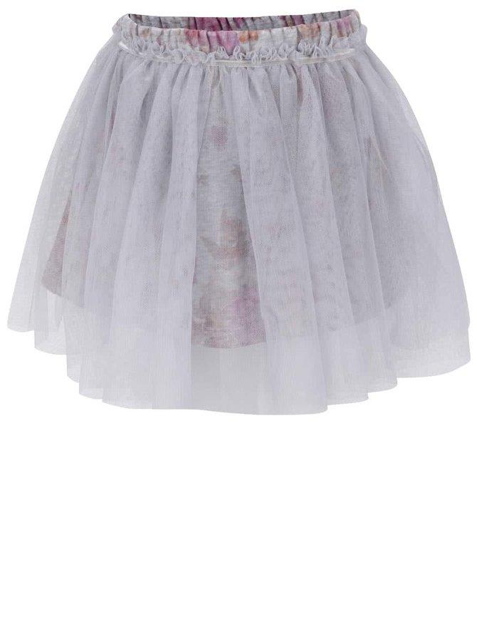 Sivá dievčenská kvetovaná sukňa Mix´n Match