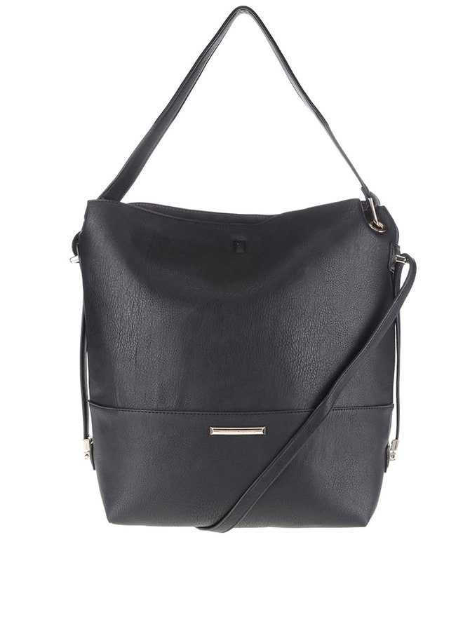 Černá kabelka s odnímatelným popruhem Dorothy Perkins