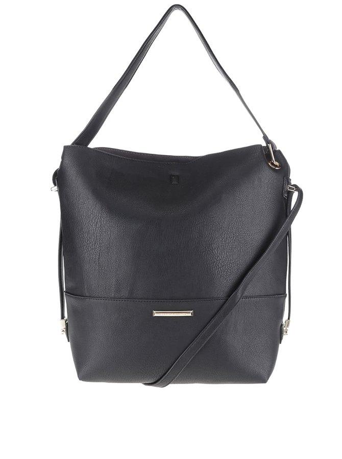 Čierna kabelka s odnímateľným popruhom Dorothy Perkins
