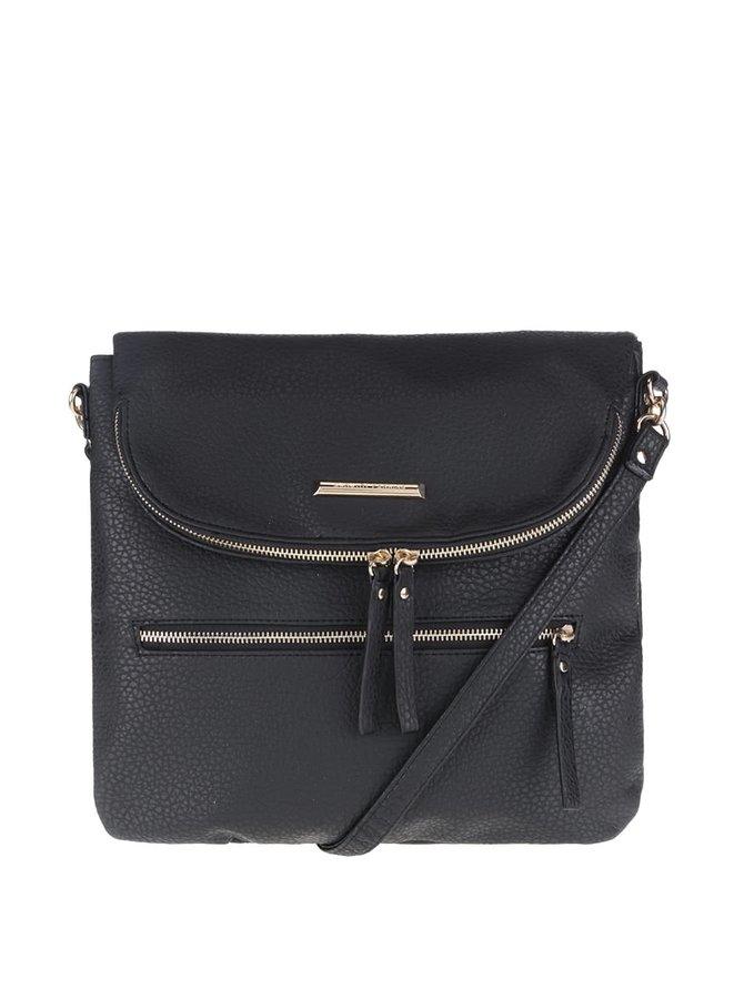 Čierna crossbody kabelka s vreckom na chlopni Dorothy Perkins