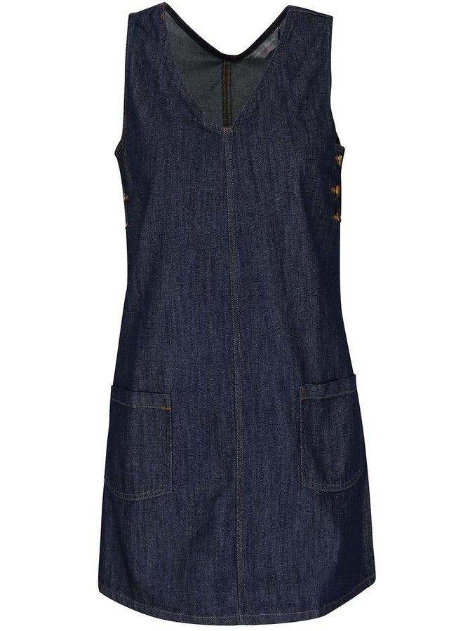 Tmavomodré rifľové šaty bez rukávov Dorothy Perkins Petite