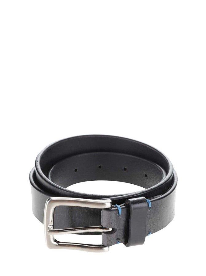 Černý kožený pásek Dice Trenton