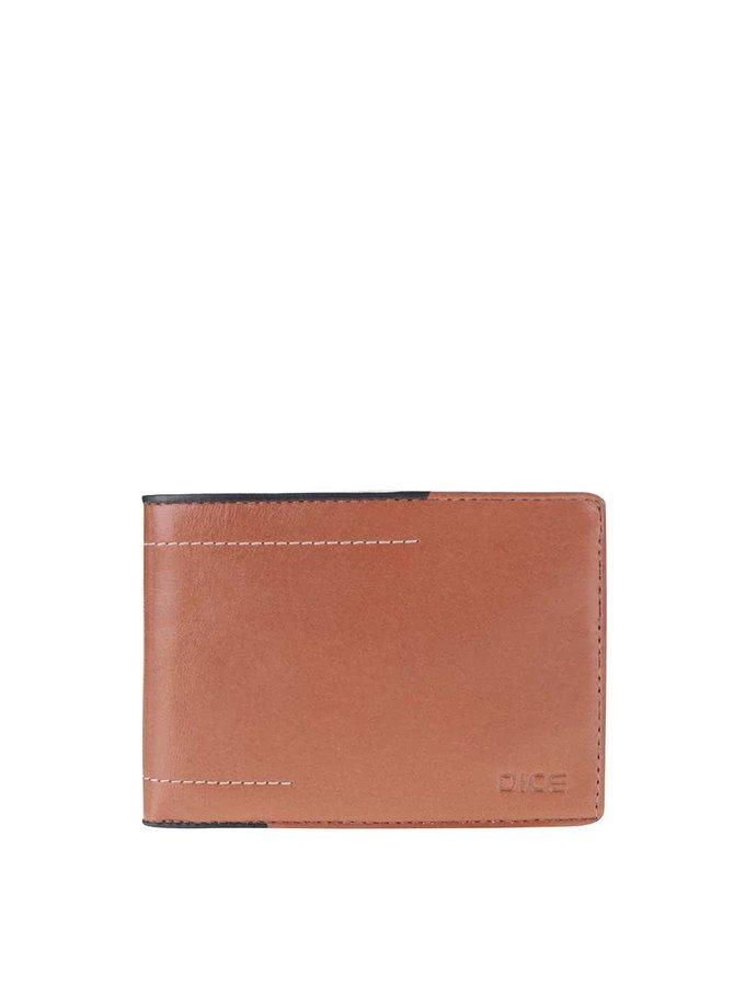 Hnedá kožená peňaženka Dice Dunn
