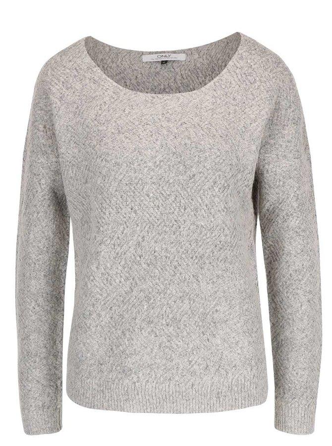 Sivý sveter ONLY Bretagne