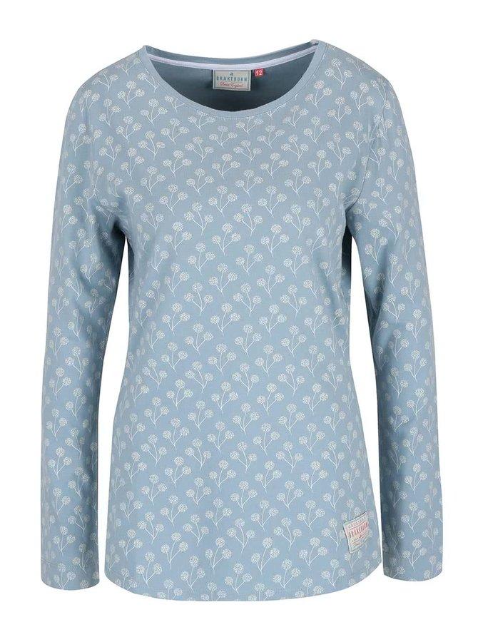 Svetlomodré tričko s potlačou a dlhým rukávom Brakeburn Floral