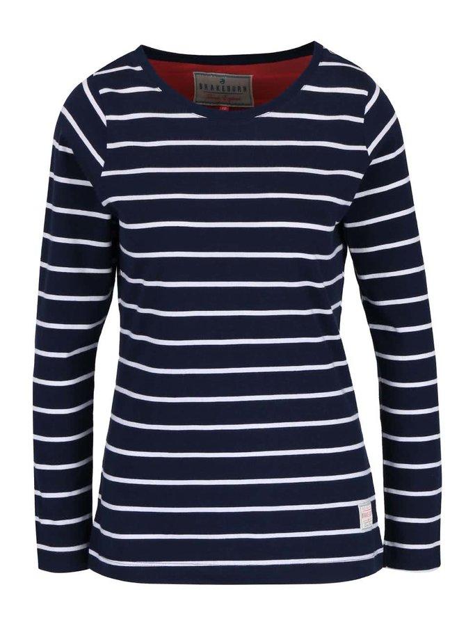 Tmavě modré pruhované tričko Brakeburn Stripe