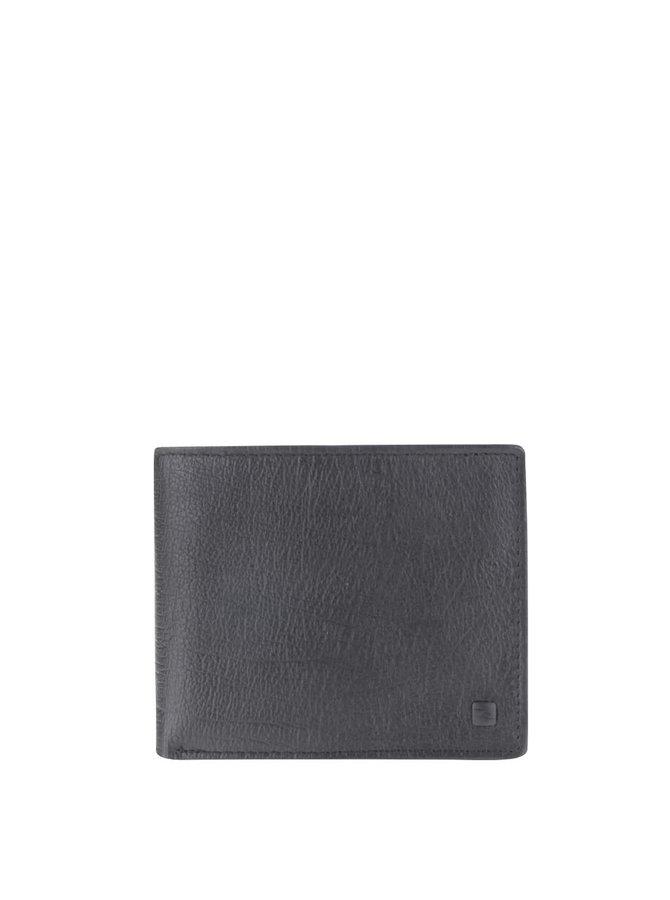 Čierna kožená pánska peňaženka Rip Curl K-Roo Icon 2 in 1