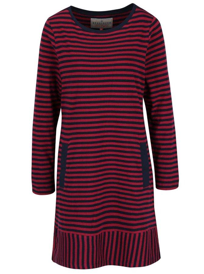 Vínovo-modré pruhované šaty Brakeburn Stripe