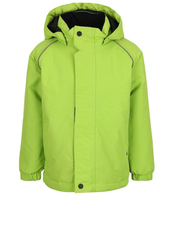 Zelená chlapčenská bunda s kapucňou name it Wind