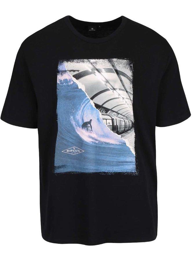 Čierno-biele pánske tričko s potlačou Rip Curl G/B Day SS Tee