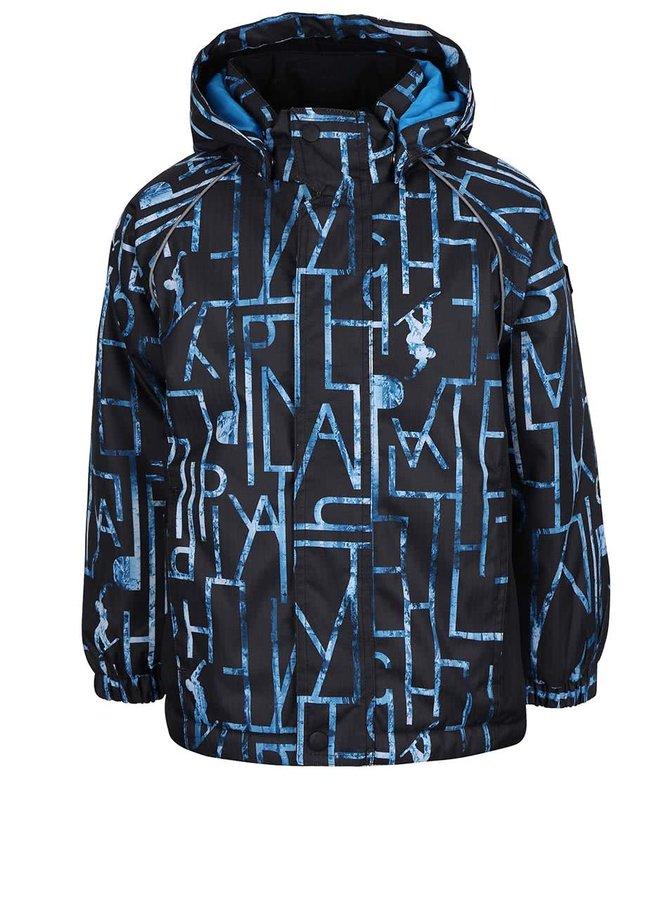 Modrá chlapčenská vzorovaná bunda name it Rise