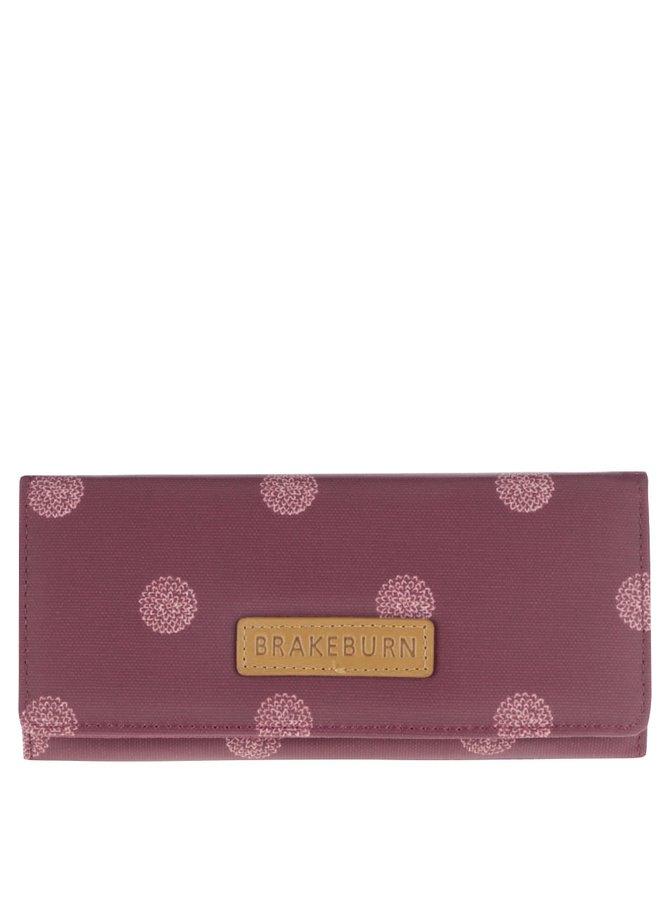 Vínová peněženka s bílými puntíky Brakeburn Polka