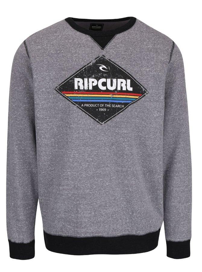 Bluză gri Rip Curl Diamond Crew cu model discret pentru bărbați