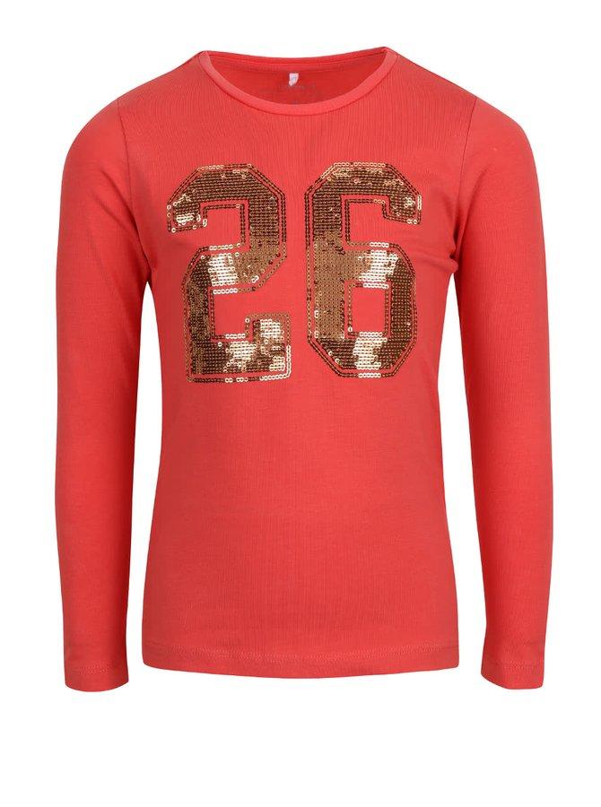 Bluză roșu cu paiete name it Lullu