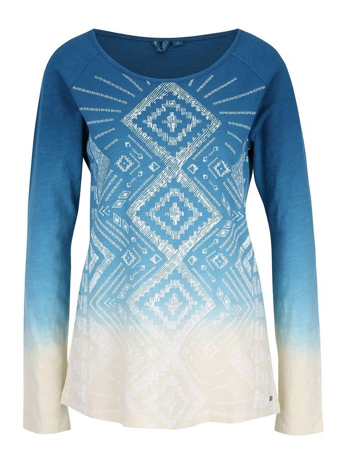 Krémovo-modré dámske tričko s potlačou Rip Curl Mariflores