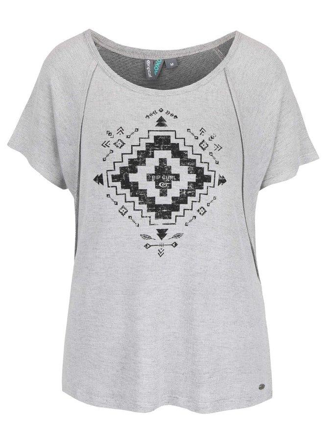 Svetlosivé dámske voľnejšie tričko Rip Curl Alegre