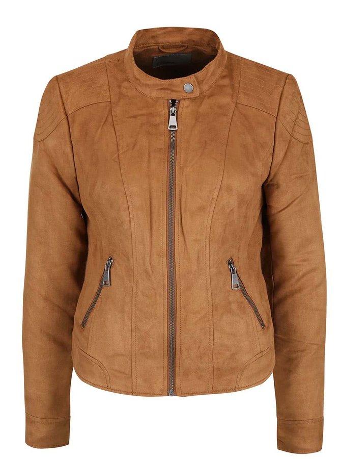 Světle hnědá bunda v semišové úpravě Vero Moda Mirra