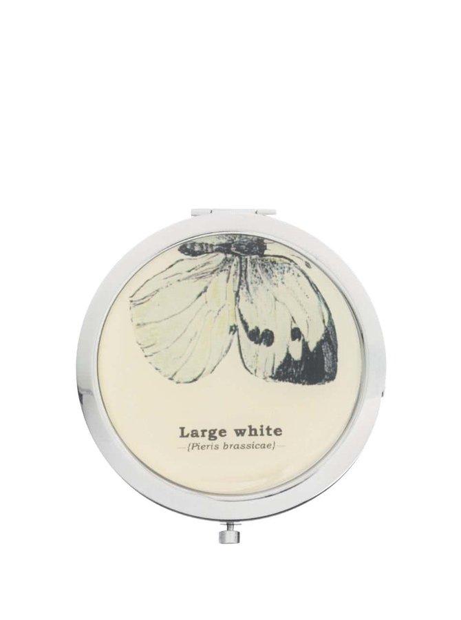 Kompaktné zrkadielko s potlačou motýľov Gift Republic