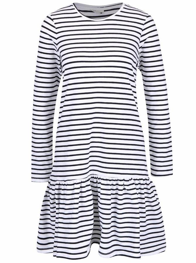 Černo-bílé pruhované šaty Noisy May Avery