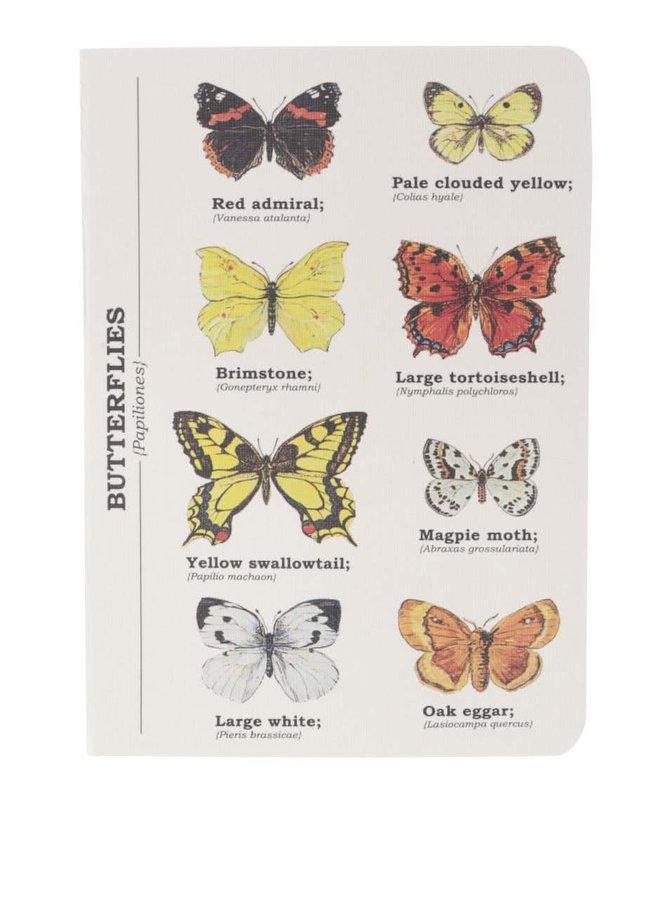 Agendă cu imprimeu cu fluturi Gift Republic