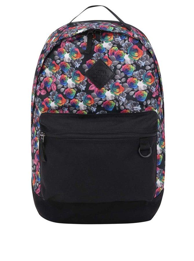 Černý dámský vzorovaný batoh s květy Vans Tiburon