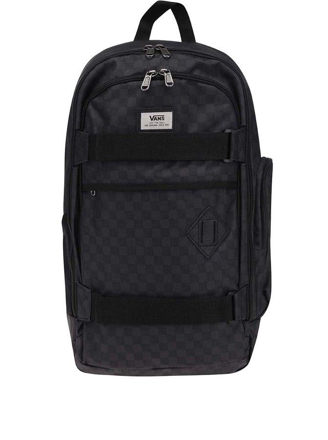 Zeleno-čierny kockovaný pánsky batoh Vans Transient