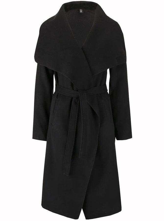 Čierny flaušový kabát Madonna