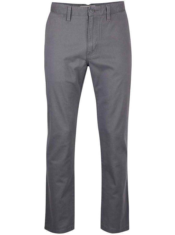 Tmavě šedé pánské chino kalhoty Vans Expert