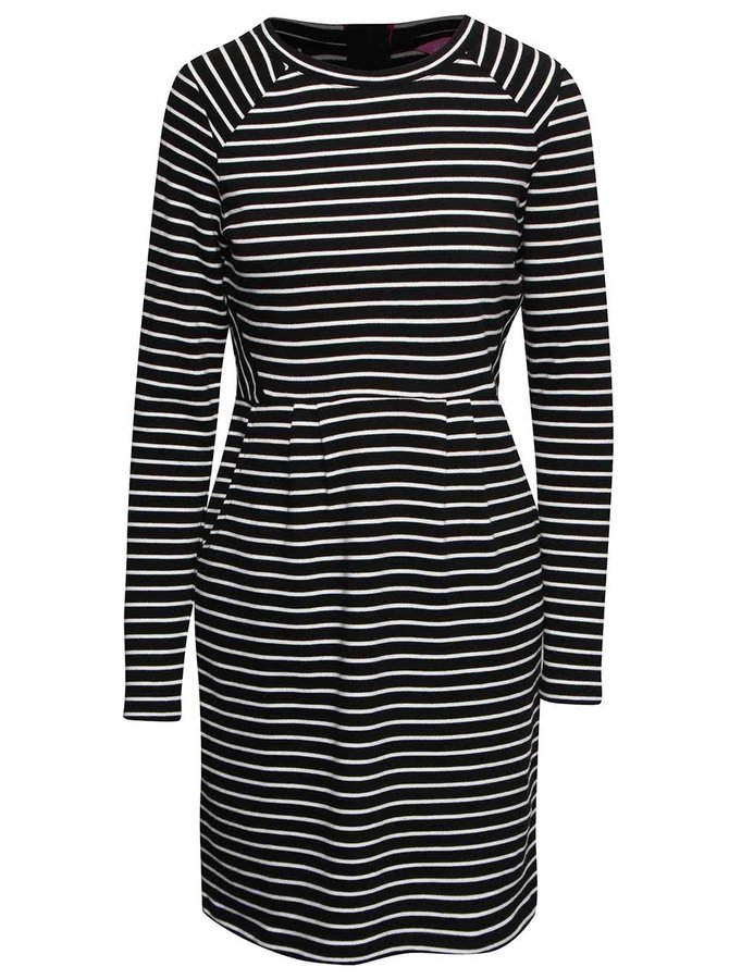 Krémovo-černé pruhované šaty Tom Joule Daylia