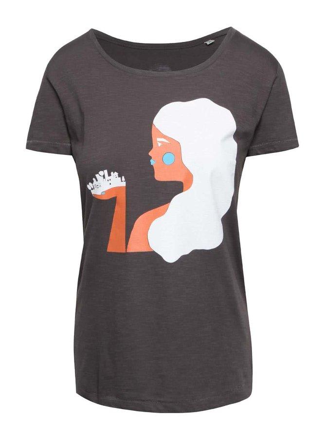 """""""Dobré"""" šedé dámské tričko pro Zažít město jinak"""