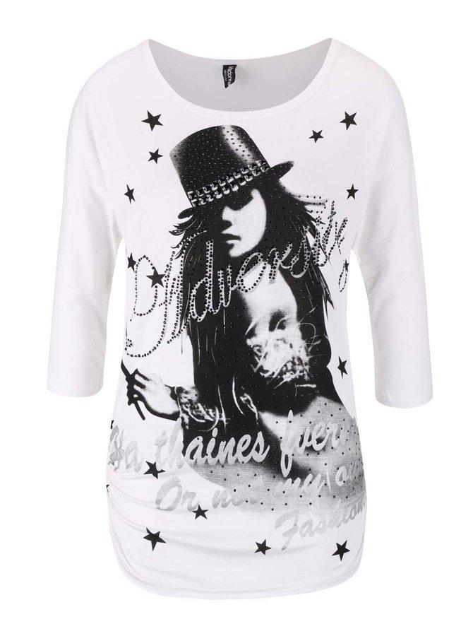 Biele tričko s potlačou Madonna