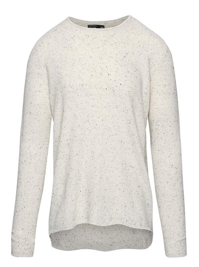 Krémový žíhaný lehký svetr !Solid Edvard