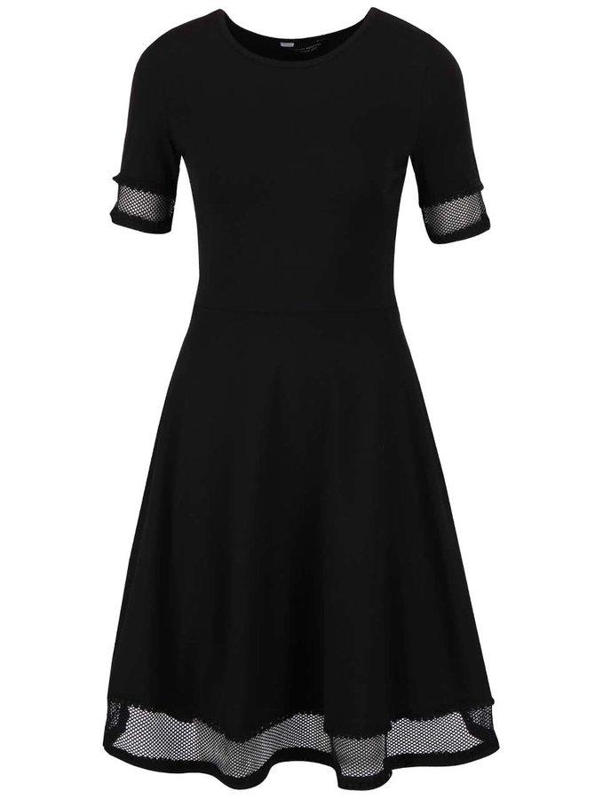 Rochie neagră Dorothy Perkins cu detalii transparente
