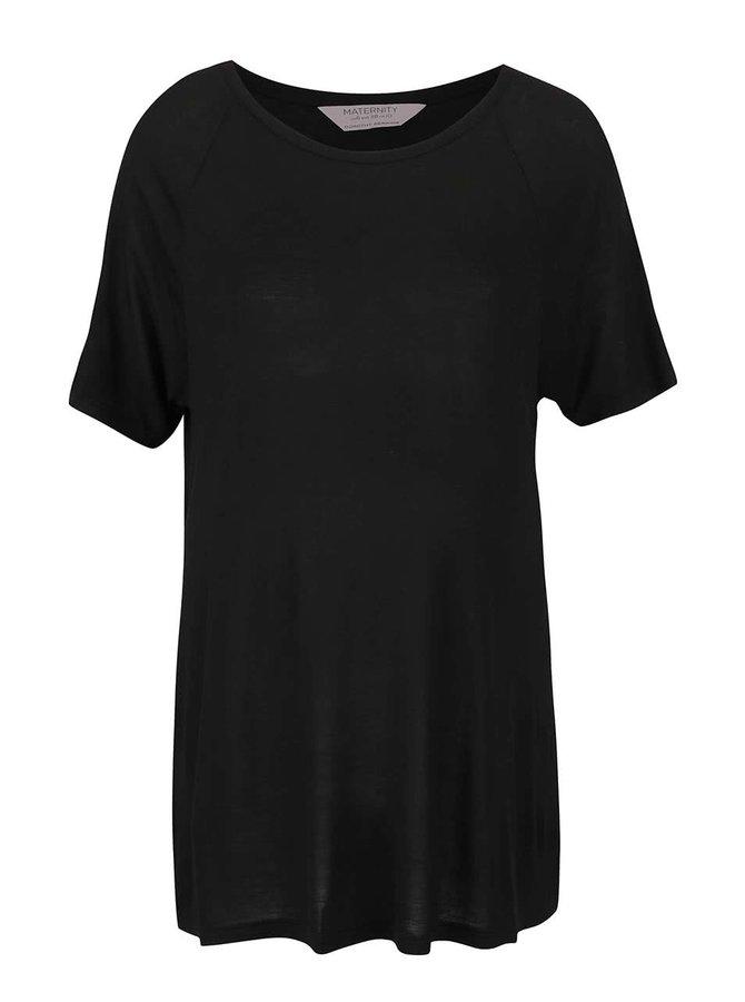 Čierne tehotenské voľné tričko Dorothy Perkins Maternity