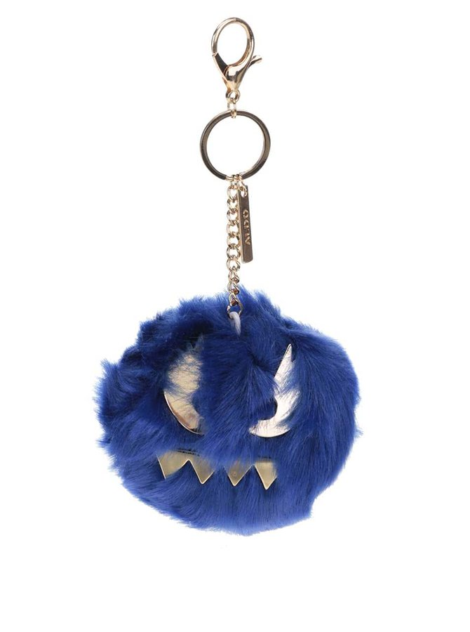 Modrá kľúčenka v tvare chlpatej emotikony ALDO Lazins