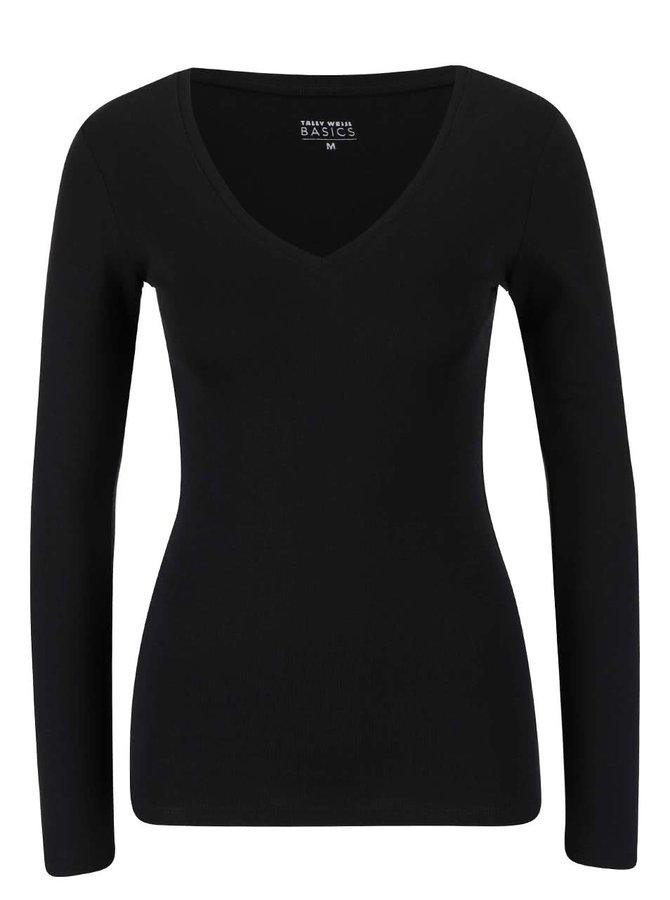 Černé tričko s dlouhým rukávem TALLY WEiJL