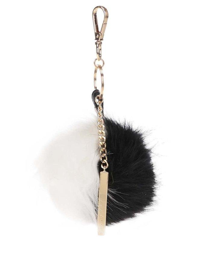 Bielo-čierna kľúčenka v tvare gule ALDO Blosch