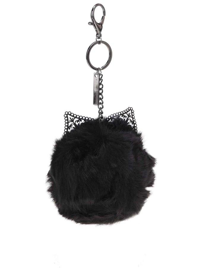 Černá klíčenka ve tvaru kočky ALDO Ediesa