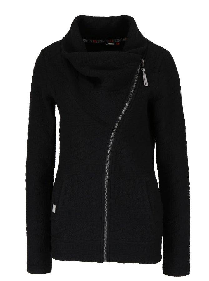 Černá dámská mikina s asymetrickým zipem Ragwear Swing B