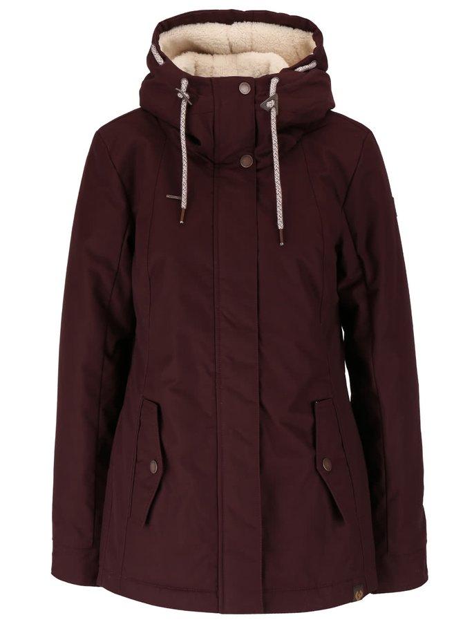 Jachetă vișinie Ragwear Monade cu glugă