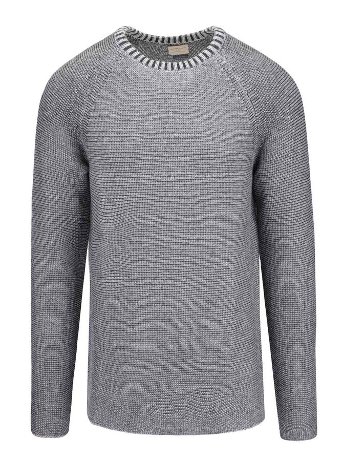 Pulover gri Selected Homme Mel cu model discret